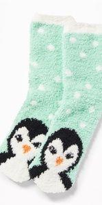 *LAST 1* NWT Old Navy 🐧 Winter Penguin Cozy Socks